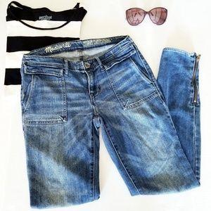 Madewell Skinny Switchyard Size 26 Zipper Jeans